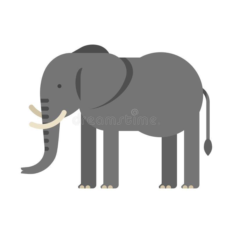 Διανυσματική επίπεδη απεικόνιση ύφους του ελέφαντα διανυσματική απεικόνιση