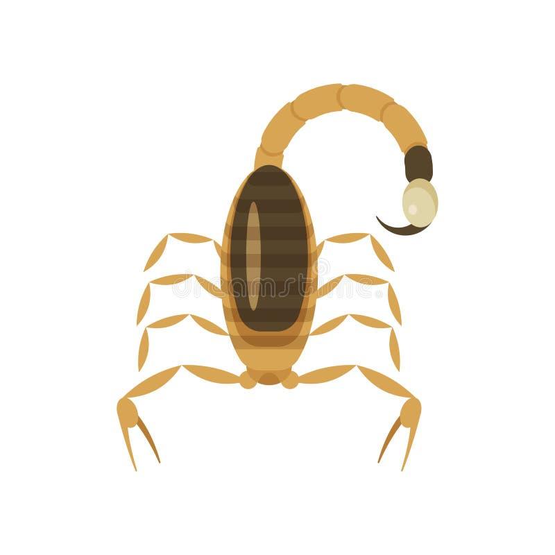 Διανυσματική επίπεδη απεικόνιση ύφους του δηλητηριώδους σκορπιού ελεύθερη απεικόνιση δικαιώματος