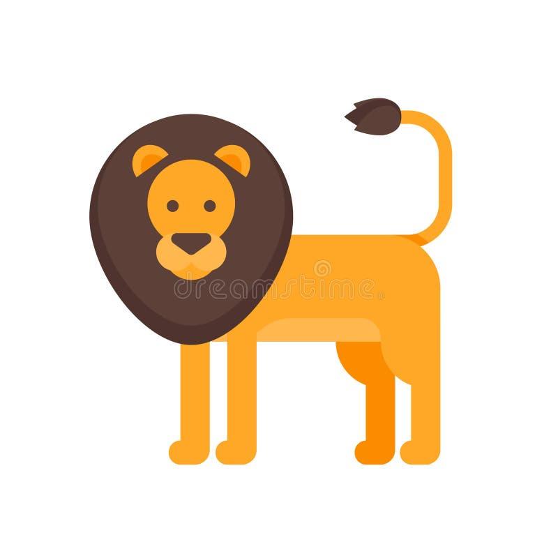Διανυσματική επίπεδη απεικόνιση ύφους του λιονταριού ελεύθερη απεικόνιση δικαιώματος