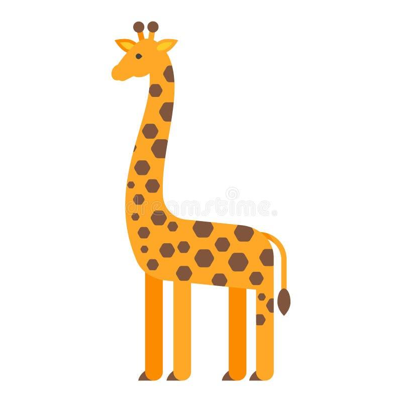 Διανυσματική επίπεδη απεικόνιση ύφους giraffe ελεύθερη απεικόνιση δικαιώματος