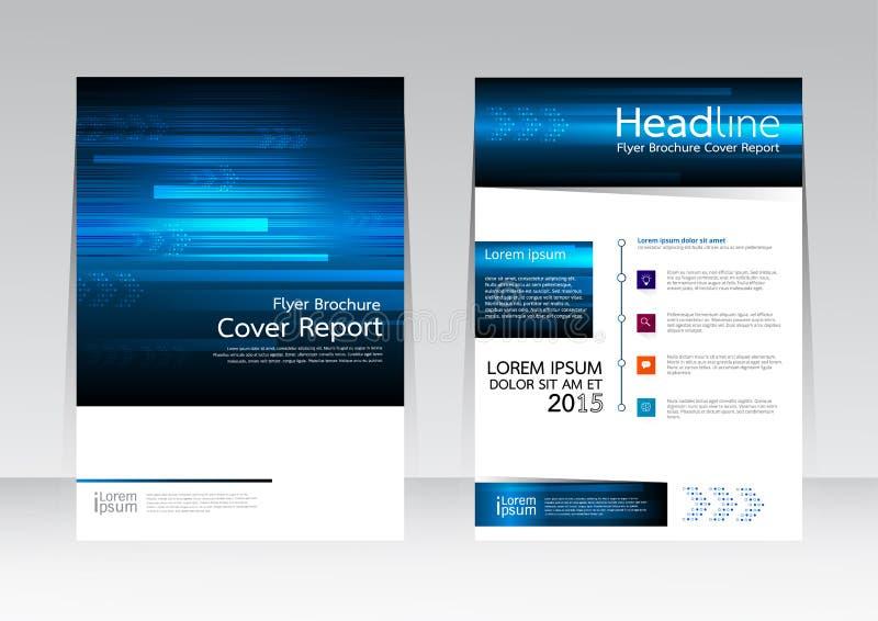 Διανυσματική επιχείρηση τεχνολογίας σχεδιασμού για την αφίσα ιπτάμενων φυλλάδιων εκθέσεων κάλυψης A4 στο μέγεθος απεικόνιση αποθεμάτων