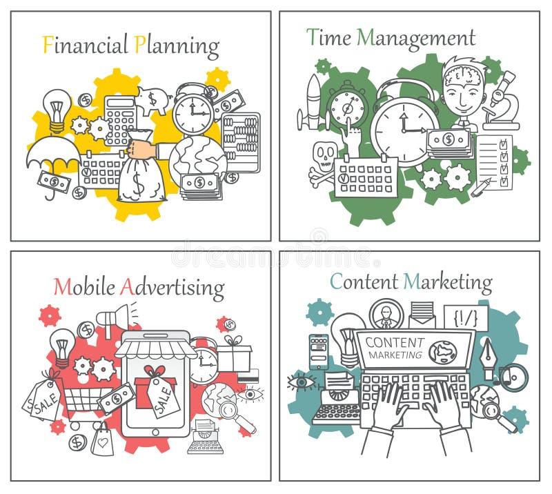 Διανυσματική επιχειρησιακή έννοια απεικόνισης για τον ιστοχώρο ή το infographics διανυσματική απεικόνιση