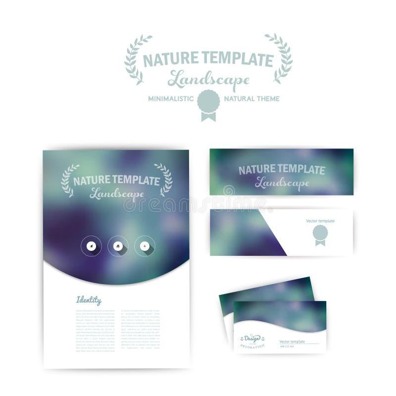 Διανυσματική εταιρική ταυτότητα Αφηρημένο φόντο temp σχεδίου εμβλημάτων απεικόνιση αποθεμάτων