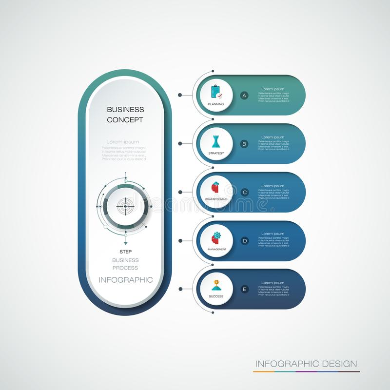 Διανυσματική ετικέτα κύκλων Infographic τρισδιάστατη, σχέδιο προτύπων διανυσματική απεικόνιση