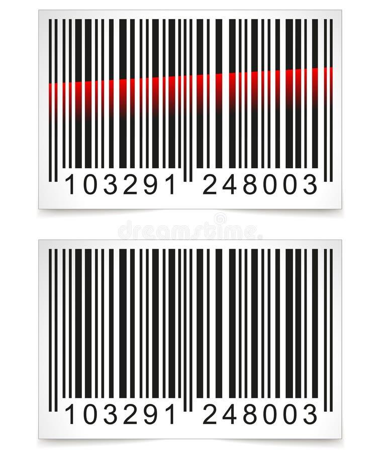 Διανυσματική ετικέττα γραμμωτών κωδίκων απεικόνιση αποθεμάτων