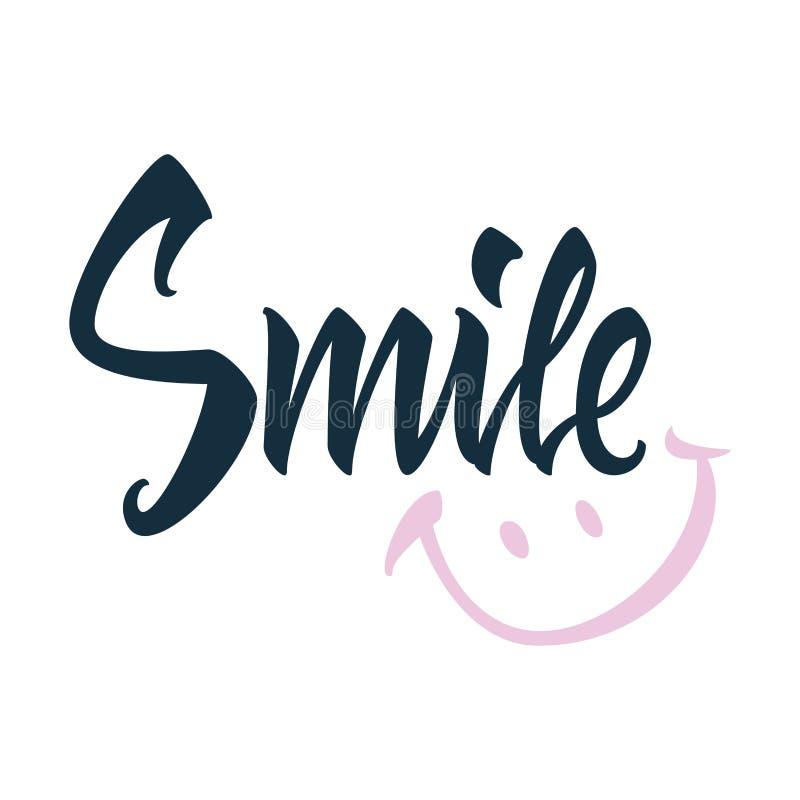 Διανυσματική ευχετήρια κάρτα χαμόγελου ελεύθερη απεικόνιση δικαιώματος