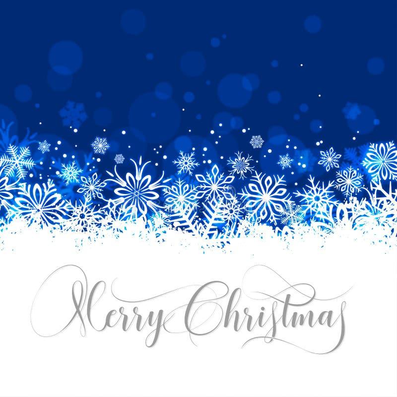Διανυσματική ευχετήρια κάρτα Χαρούμενα Χριστούγεννας απεικόνιση αποθεμάτων