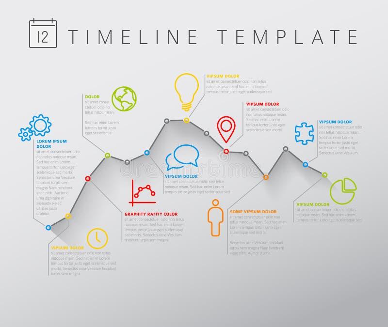 Διανυσματική ελαφριά υπόδειξη ως προς το χρόνο Infographic με τη γραφική παράσταση ελεύθερη απεικόνιση δικαιώματος