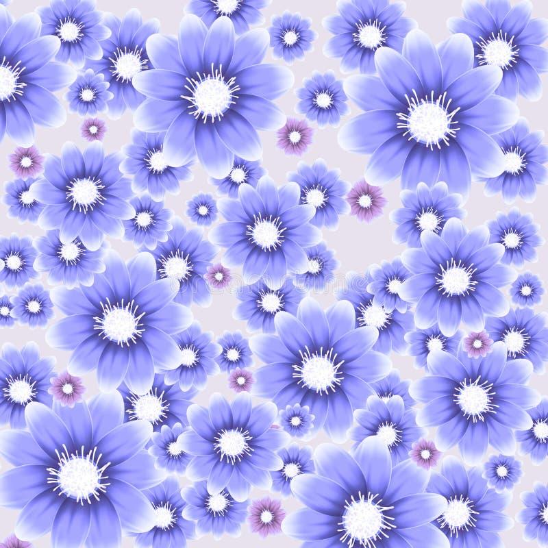 Διανυσματική ζωηρόχρωμη ανασκόπηση με τα λουλούδια απεικόνιση αποθεμάτων