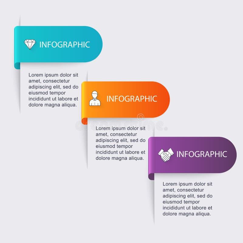 Διανυσματική ζωηρόχρωμη γραφική παράσταση πληροφοριών για τις επιχειρησιακές παρουσιάσεις σας Γ ελεύθερη απεικόνιση δικαιώματος