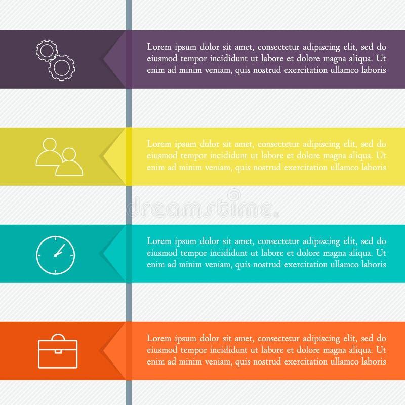 Διανυσματική ζωηρόχρωμη γραφική παράσταση πληροφοριών για τις επιχειρησιακές παρουσιάσεις σας διανυσματική απεικόνιση