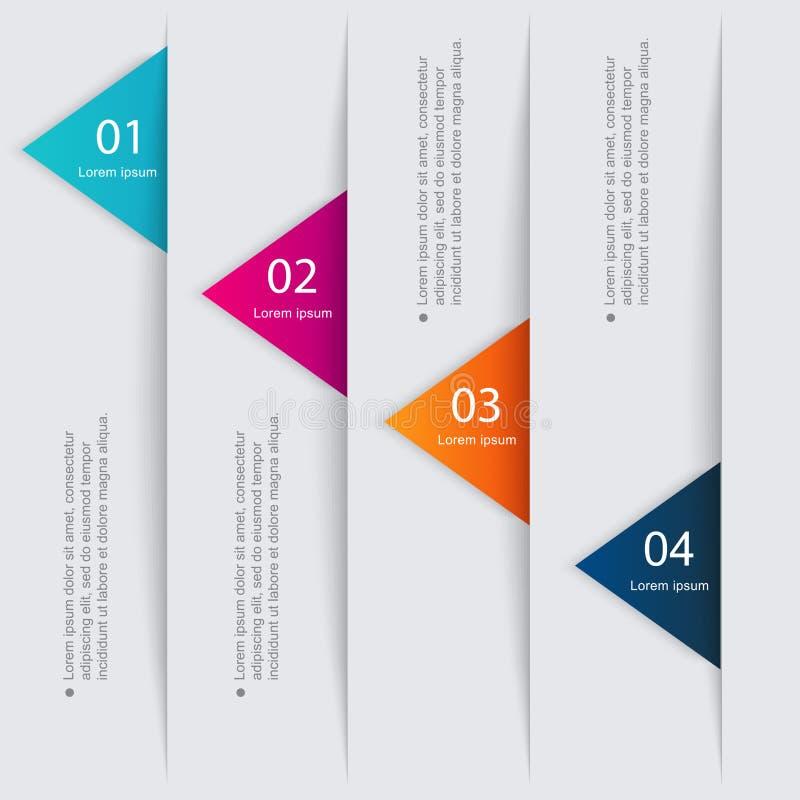 Διανυσματική ζωηρόχρωμη γραφική παράσταση πληροφοριών για τις επιχειρησιακές παρουσιάσεις σας απεικόνιση αποθεμάτων