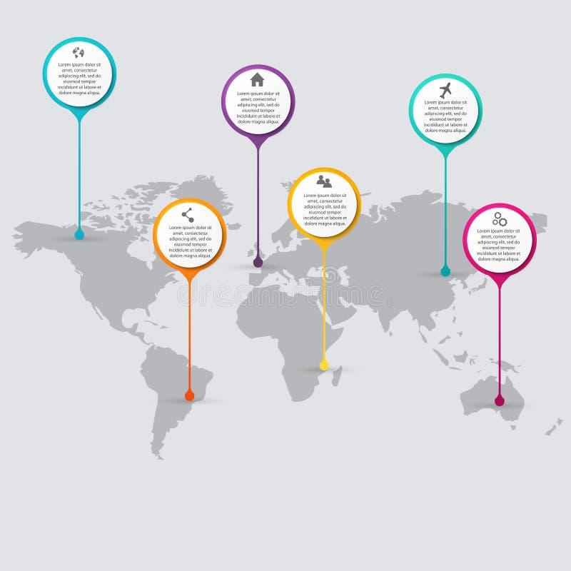 Διανυσματική ζωηρόχρωμη γραφική παράσταση πληροφοριών για τις επιχειρησιακές παρουσιάσεις σας ελεύθερη απεικόνιση δικαιώματος
