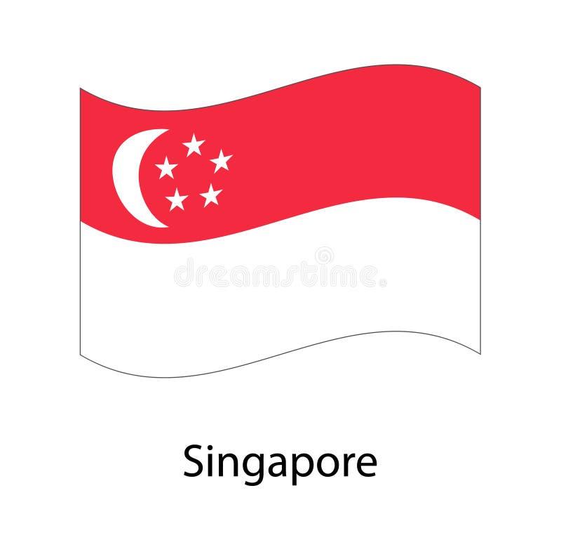 Διανυσματική ημέρα της ανεξαρτησίας της Σιγκαπούρης ` s στις 9 Αυγούστου απεικόνισης Εθνική μέρα της Σιγκαπούρης ελεύθερη απεικόνιση δικαιώματος