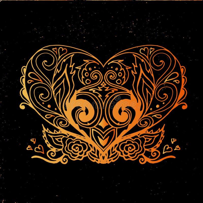 Διανυσματική διακοσμητική καρδιά στοκ φωτογραφίες με δικαίωμα ελεύθερης χρήσης