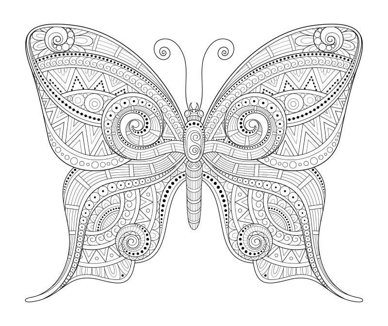 Διανυσματική διακοσμητική περίκομψη πεταλούδα ελεύθερη απεικόνιση δικαιώματος