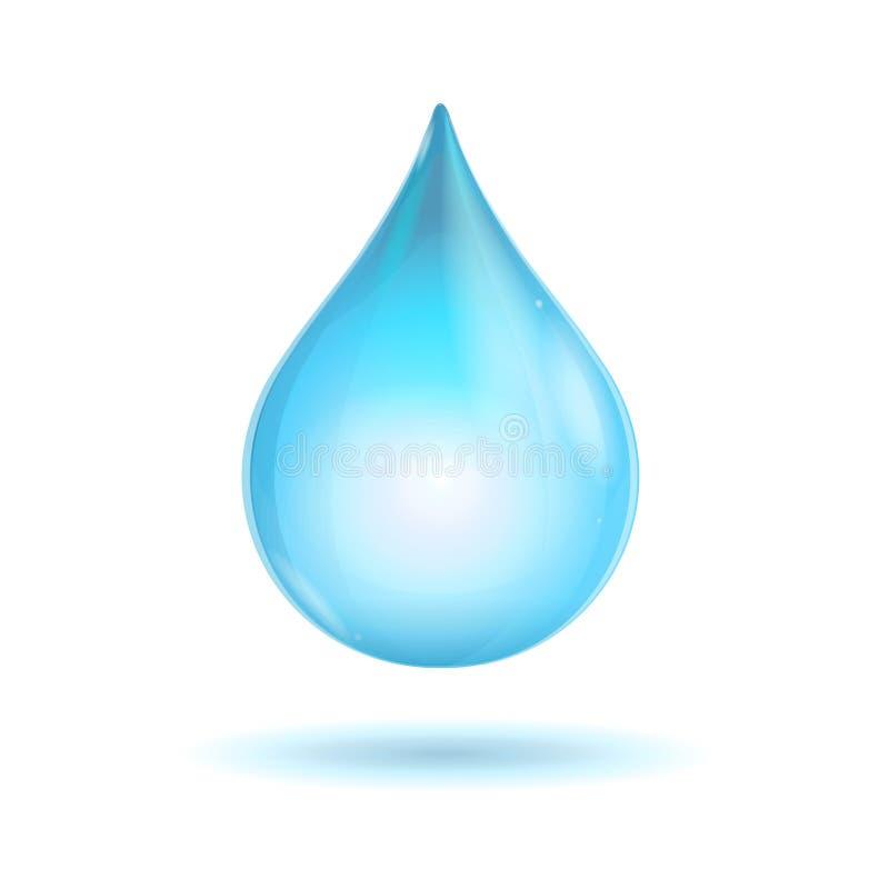 Διανυσματική διαφανής πτώση νερού διανυσματική απεικόνιση