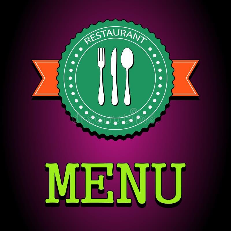 Διανυσματική κάρτα απεικόνισης Ετικέτα επιλογών εστιατορίων απεικόνιση αποθεμάτων