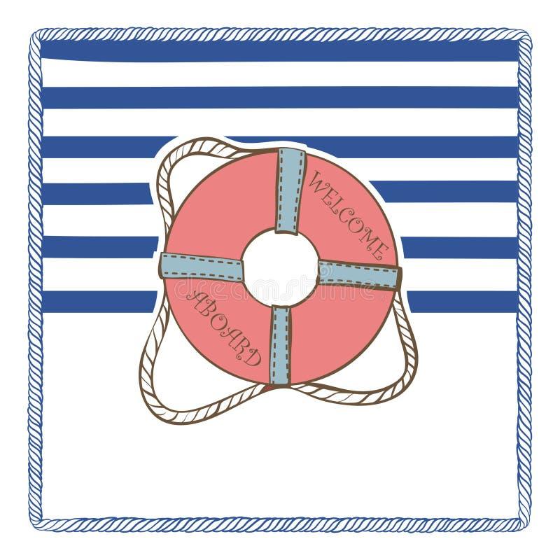 Διανυσματική κάρτα θάλασσας διανυσματική απεικόνιση