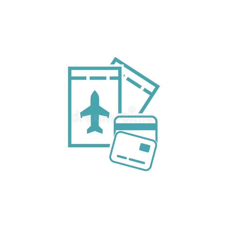 Διανυσματική κάρτα μετρητών απεικόνισης και αεροπορικά εισιτήρια απεικόνιση αποθεμάτων