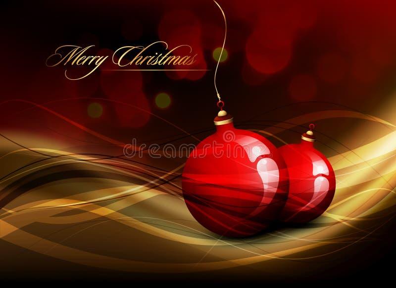 Διανυσματική κάρτα Χριστουγέννων απεικόνιση αποθεμάτων