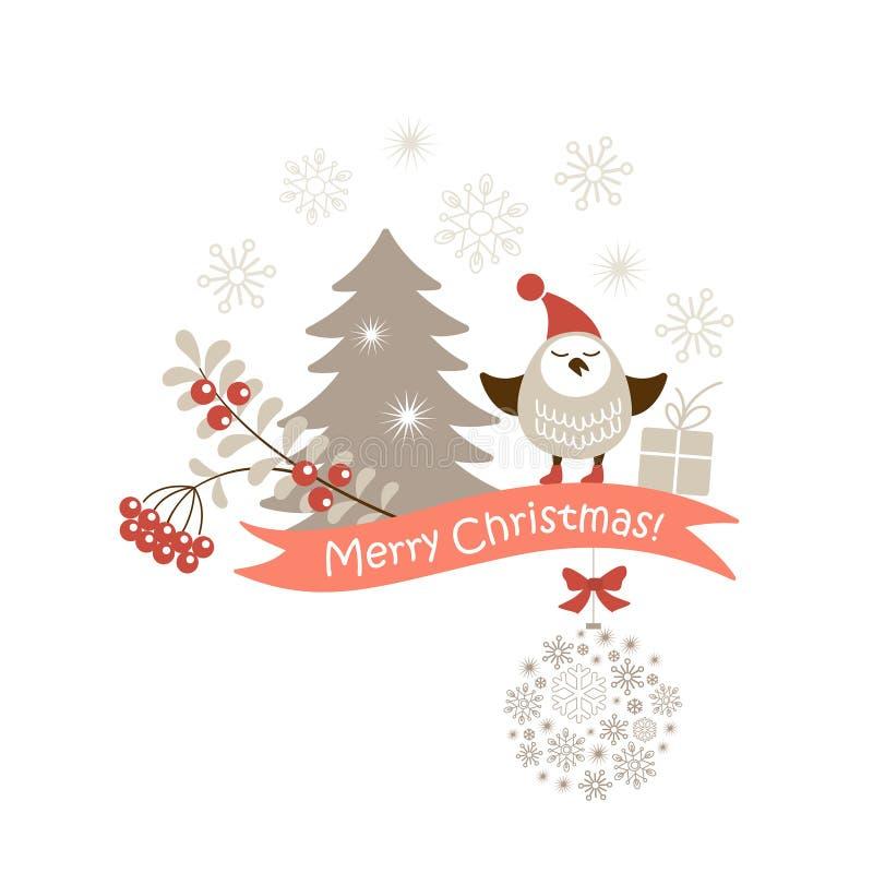 Διανυσματική κάρτα Χριστουγέννων διανυσματική απεικόνιση