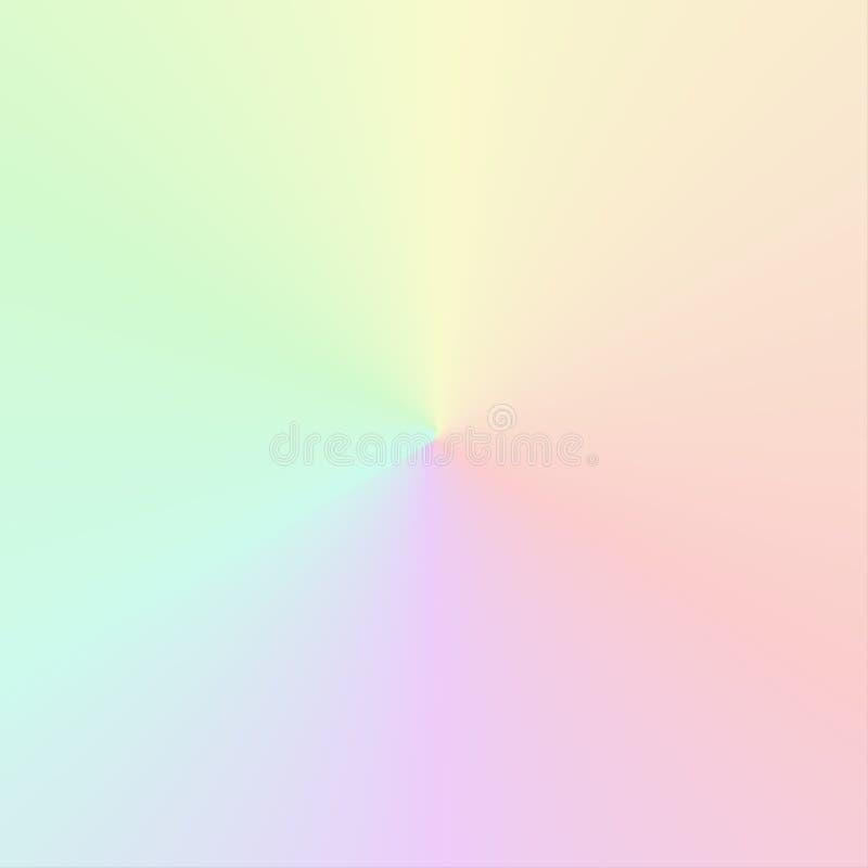 Διανυσματική κυκλική κλίση στα χαμηλωμένα χρώματα ουράνιων τόξων ελεύθερη απεικόνιση δικαιώματος