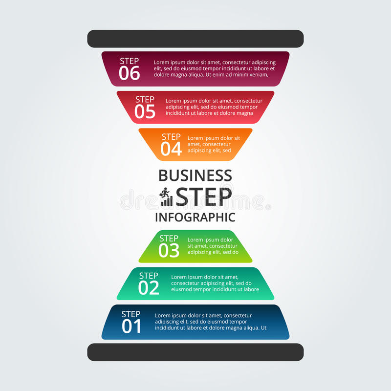 Διανυσματική κλεψύδρα infographic διανυσματική απεικόνιση