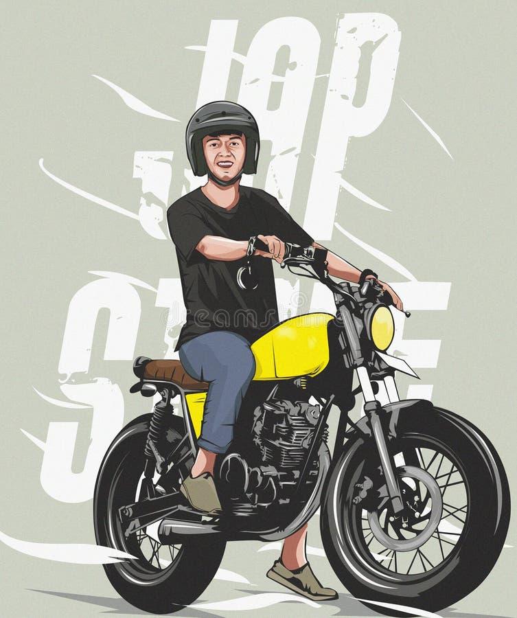 Διανυσματική μοτοσικλέτα συνήθειας στοκ φωτογραφία