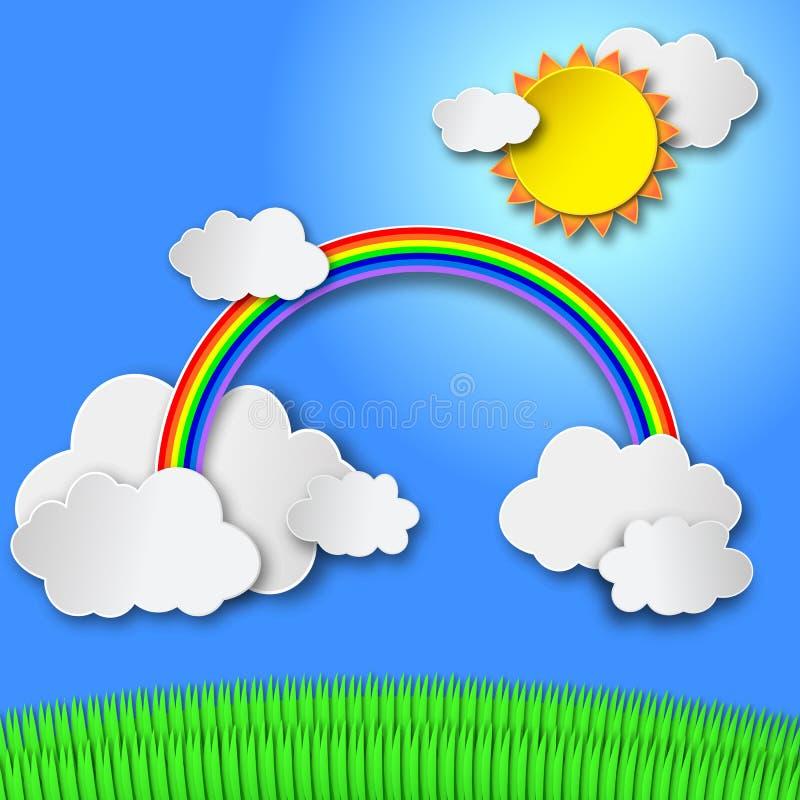 Διανυσματική μουτζουρωμένη θερινή άποψη με το φως του ήλιου απεικόνιση αποθεμάτων