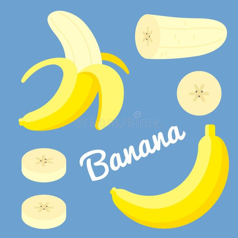 Διανυσματική μπανάνα ελεύθερη απεικόνιση δικαιώματος