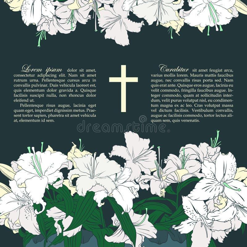 Διανυσματική νεκρική κάρτα διανυσματική απεικόνιση
