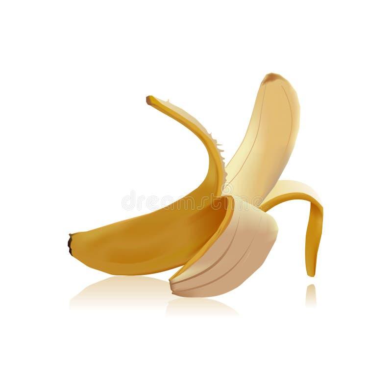 Διανυσματική ορεκτική και εύγευστη μπανάνα απεικόνισης ελεύθερη απεικόνιση δικαιώματος