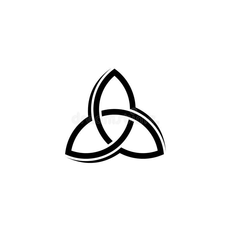 Διανυσματική παραλλαγή λογότυπων τριάδας απεικόνιση αποθεμάτων