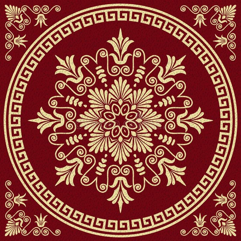 Διανυσματική παραδοσιακή εκλεκτής ποιότητας χρυσή ελληνική διακόσμηση διανυσματική απεικόνιση