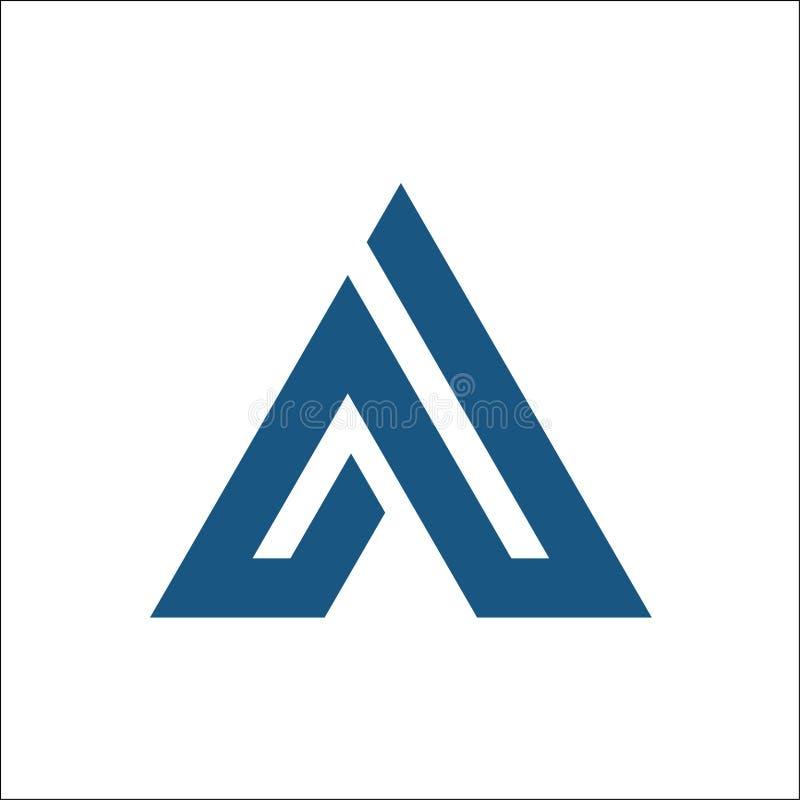 Διανυσματική περίληψη λογότυπων τριγώνων Α ελεύθερη απεικόνιση δικαιώματος