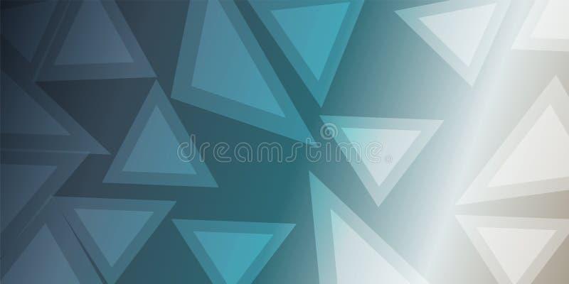 Διανυσματική περίληψη διαφάνειας τριγώνων σκοτεινή ανοικτό μπλε διανυσματική απεικόνιση