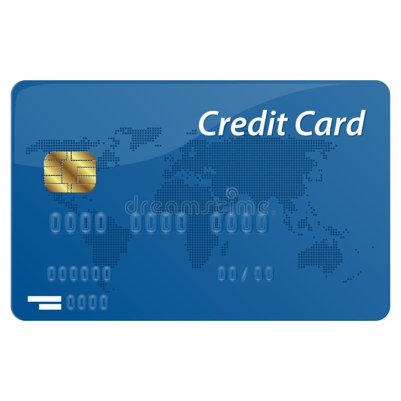 Διανυσματική πιστωτική κάρτα διανυσματική απεικόνιση