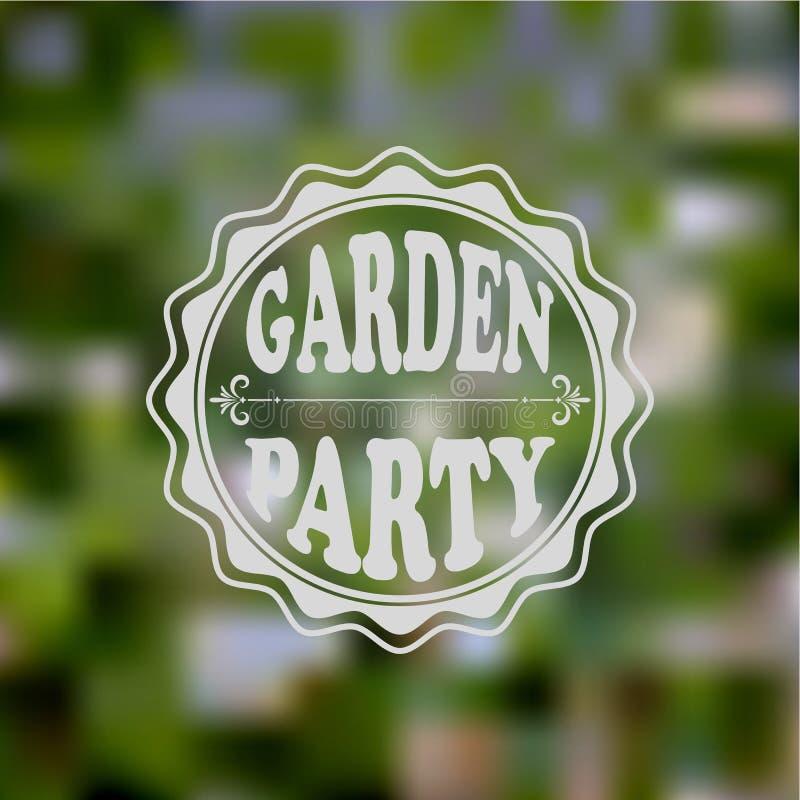 Διανυσματική πρόσκληση κόμματος κήπων διανυσματική απεικόνιση
