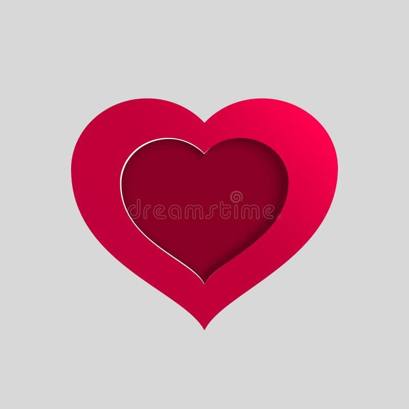 Διανυσματική ρόδινη καρδιά διανυσματική απεικόνιση