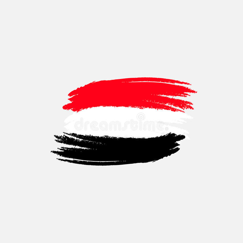 Διανυσματική σημαία της Αιγύπτου Διανυσματική απεικόνιση για την αιγυπτιακή εθνική μέρα Σημαία της Αιγύπτου στο καθιερώνον τη μόδ απεικόνιση αποθεμάτων