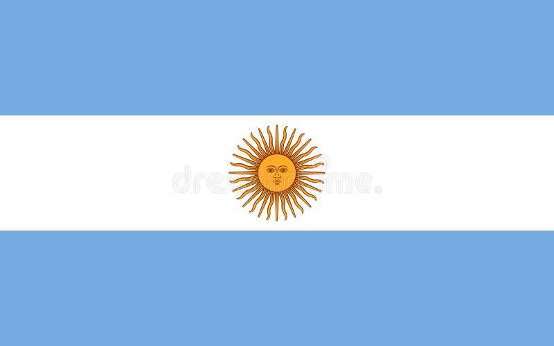 Διανυσματική σημαία της Αργεντινής Εθνικό σύμβολο της Αργεντινής διανυσματική απεικόνιση