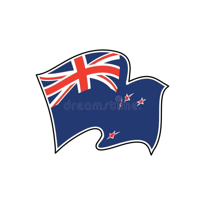 Διανυσματική σημαία της Νέας Ζηλανδίας Ensign της Νέας Ζηλανδίας διανυσματική απεικόνιση