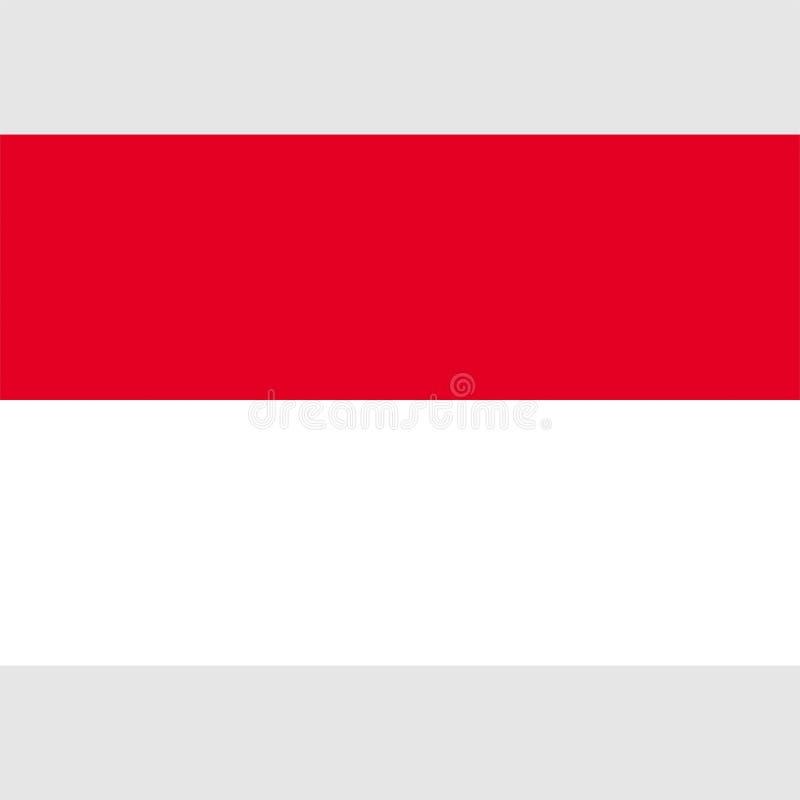 Διανυσματική σημαία 1 του Μονακό αποθεμάτων ελεύθερη απεικόνιση δικαιώματος