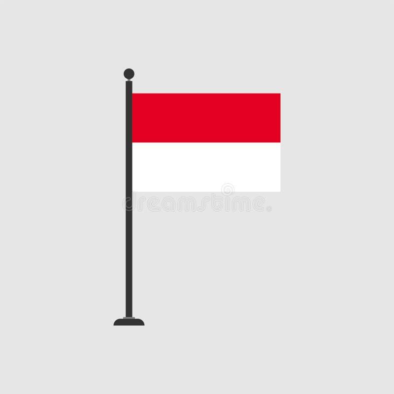 Διανυσματική σημαία 3 του Μονακό αποθεμάτων απεικόνιση αποθεμάτων