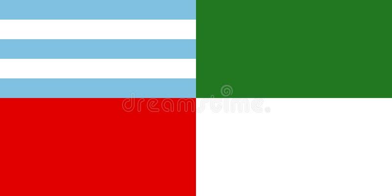 Διανυσματική σημαία Portovejo, Ισημερινός Επίσημη σημαία της πόλης Portovejo, Ισημερινός, διανυσματική απεικόνιση διανυσματική απεικόνιση