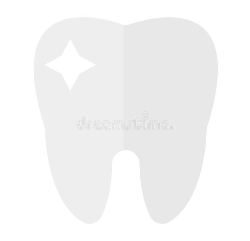Διανυσματική σκιαγραφία εικονιδίων δοντιών απεικόνιση αποθεμάτων