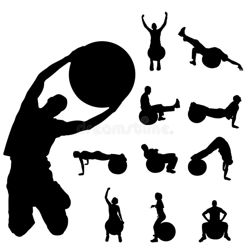 Διανυσματική σκιαγραφία ενός pople ελεύθερη απεικόνιση δικαιώματος