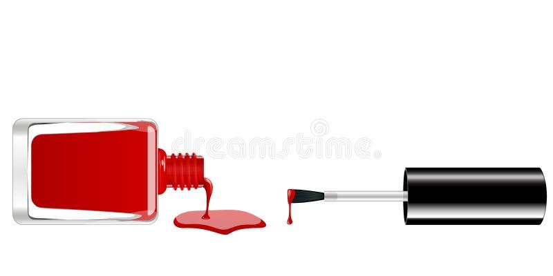 Διανυσματική στιλβωτική ουσία καρφιών διανυσματική απεικόνιση