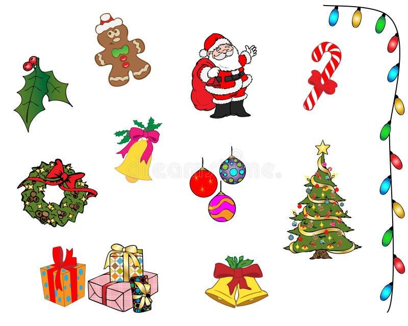 Διανυσματική συλλογή αντικειμένων Χριστουγέννων στοκ εικόνα με δικαίωμα ελεύθερης χρήσης